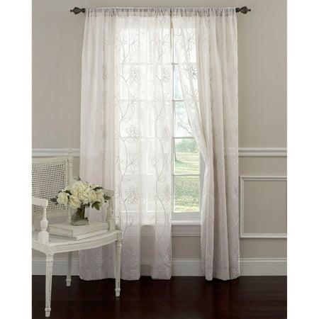 Laura Ashley Frosting Panel Pair Window Curtains Walmart Com