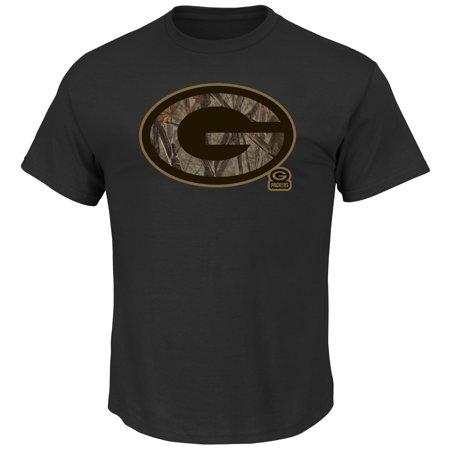 Majestic Green Bay Packers Camo Tek Patch Mens Black Shirt  Medium