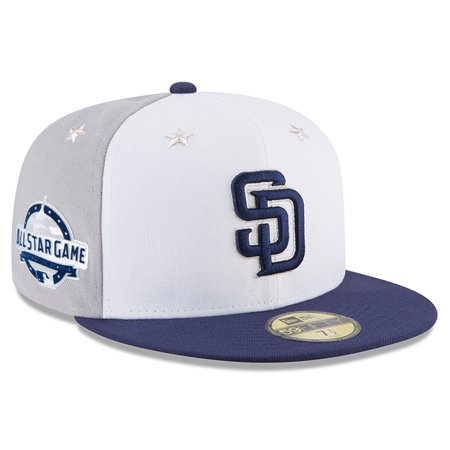 wholesale dealer 0811d b93a4 San Diego Padres New Era 2018 MLB All-Star Game On-Field 59FIFTY Fitted Hat  - White Blue - Walmart.com