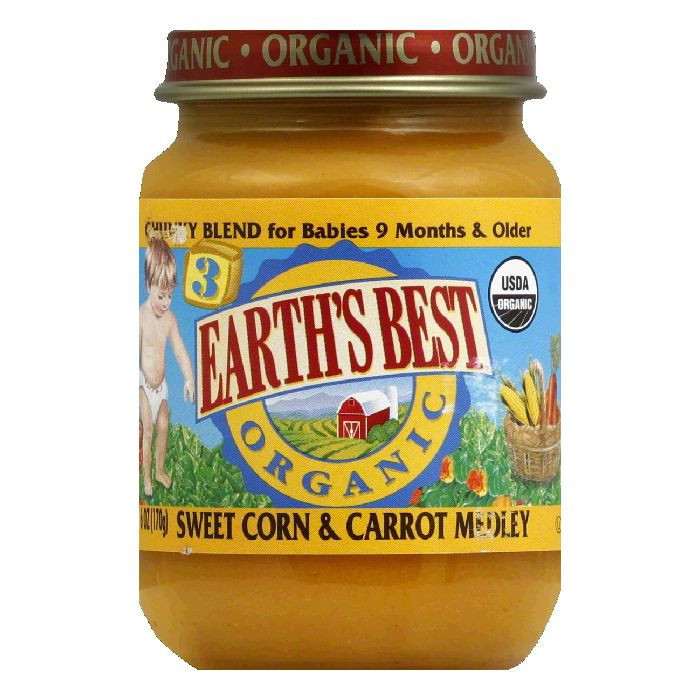 Hain Celestial Group Earths Best Organic Baby Food, 6 oz