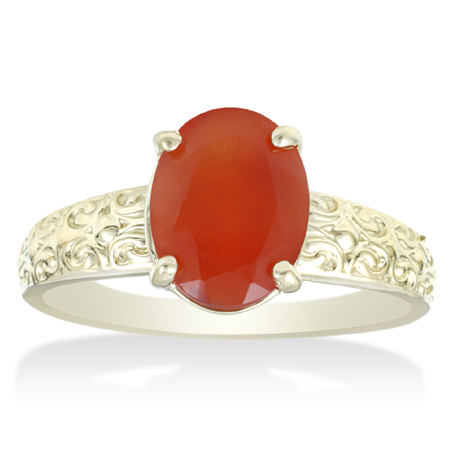 Pompeii3 1ct Mexican Fire Opal Vintage Ring 14k Yellow Gold