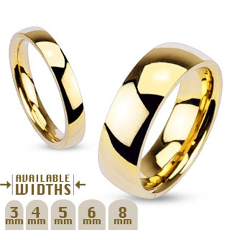 3mm - 8mm Wide 14k Gold Plated Classic Comfort Fit Wedding Ring Band Width 03 mm Size 04 5 3mm Comfort Fit Band