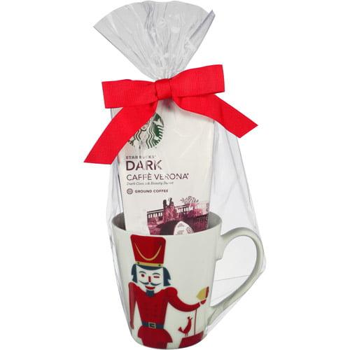 Starbucks Dark Caffe Verona Coffee with Coffee Mug Holiday Gift Set, 2 pc