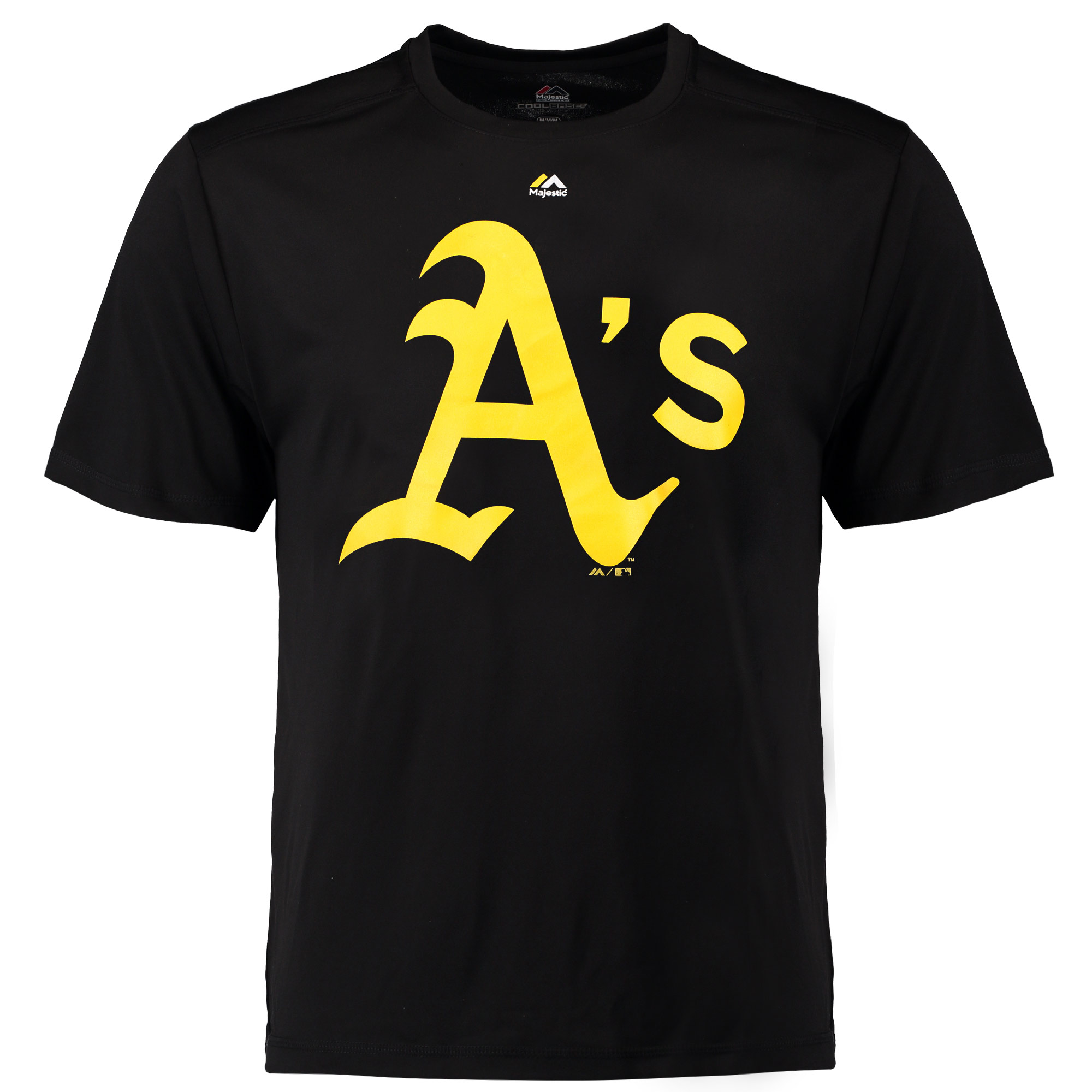Oakland Athletics Majestic Synthetic Official Logo T-Shirt - Black
