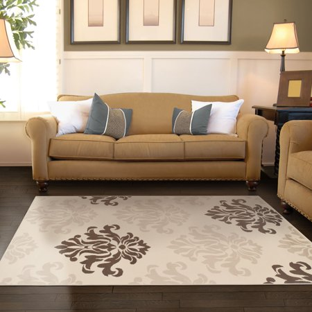 Superior Designer Casper Collection with 8mm Pile and Jute Backing, Moisture Resistant and Anti-Static Indoor Area Rug