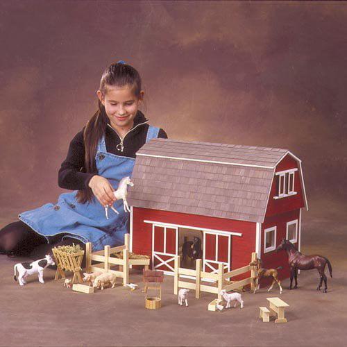 Real Good Toys Ruff 'n Rustic All American Barn Kit  - 1 Inch Scale