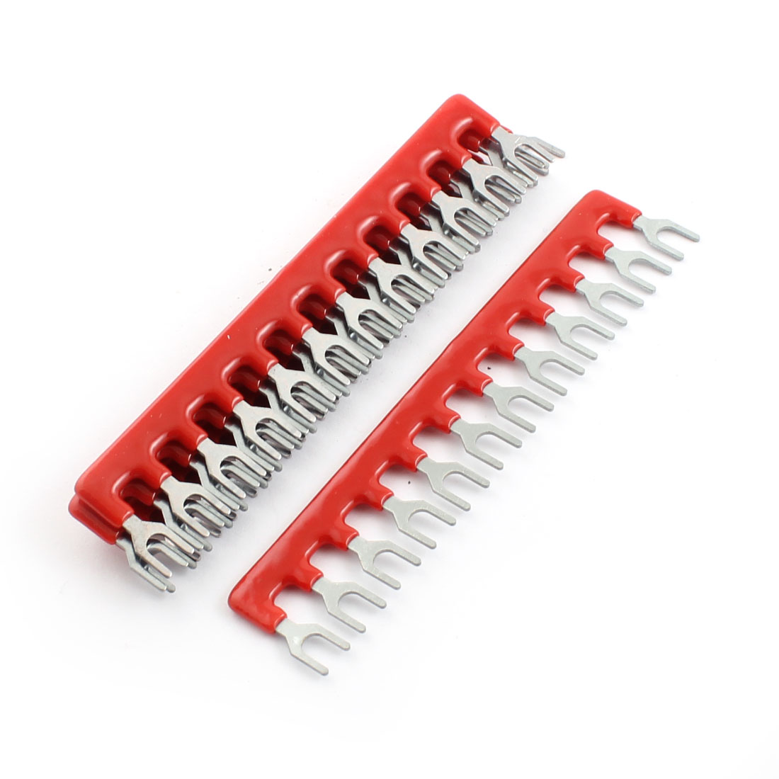 Unique Bargains 600V 25A 12 Postions Pre Insulated Terminal Strip Jumper Red 5Pcs