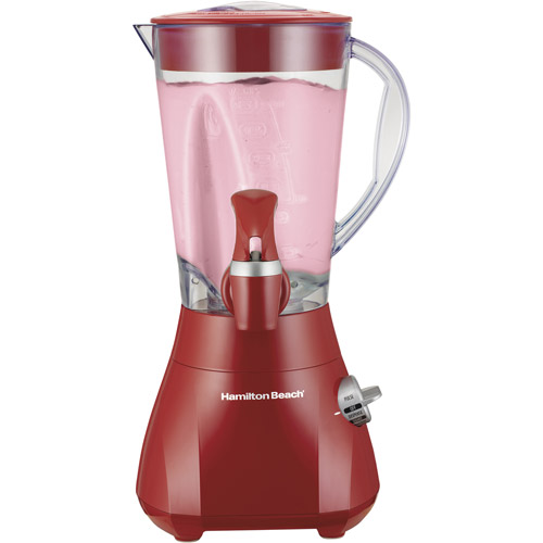 Hamilton Beach Wave Station Express Dispensing Blender, Red