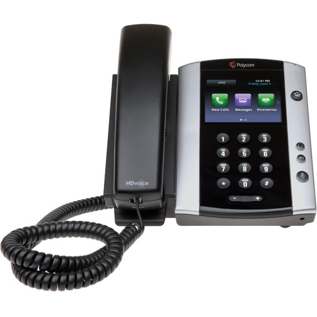 Polycom VVX 500 IP Phone Cable Wall Mountable 12 x Total Line VoIP Speaker Phone 2 x Network (RJ-45) USB PoE... by Polycom, Inc