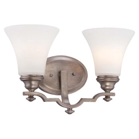 Midnight Gold 2 Light Bathroom Vanity Light From The Wellington Ave. Collection ()