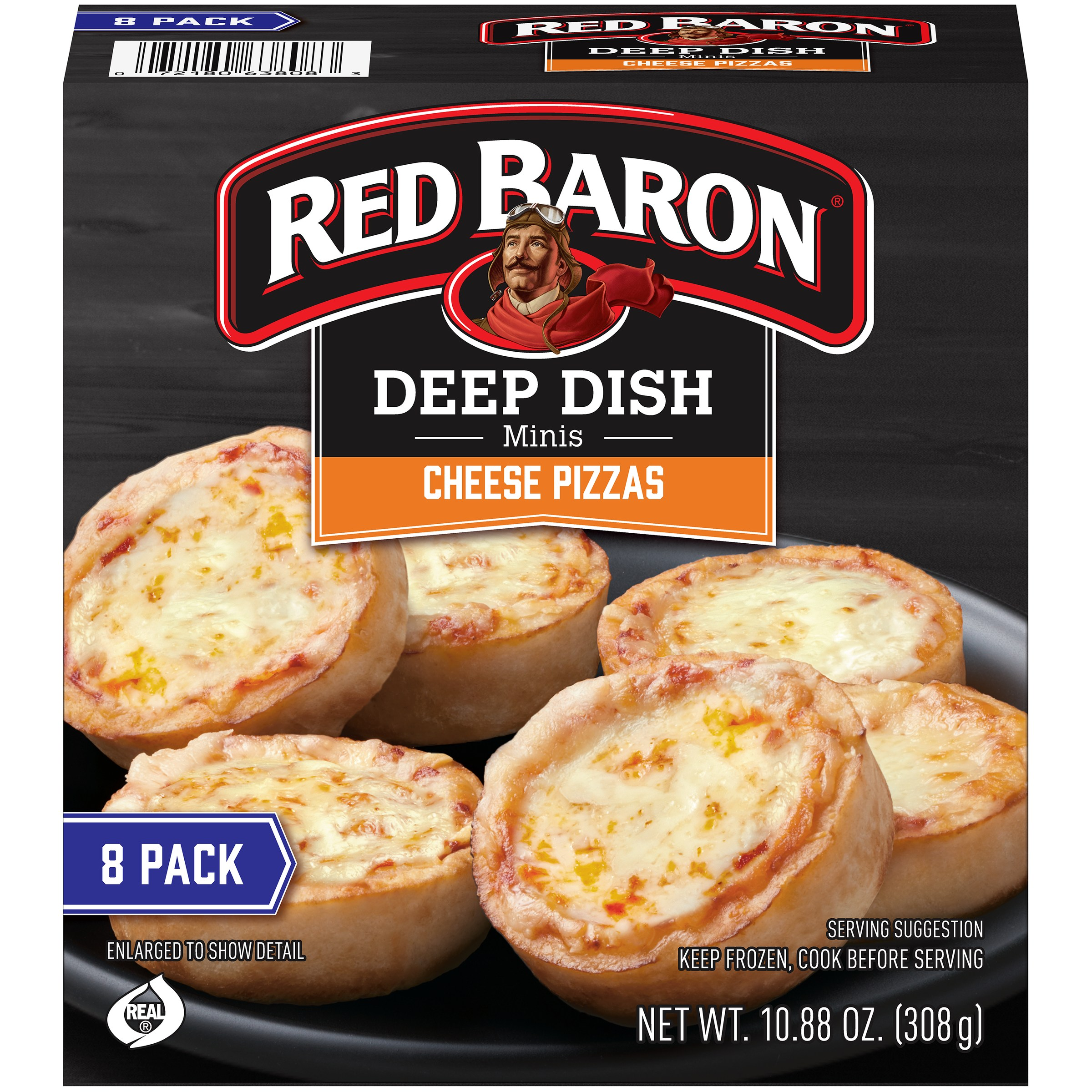 Red Baron® Minis Deep Dish Cheese Pizza 8 ct Box