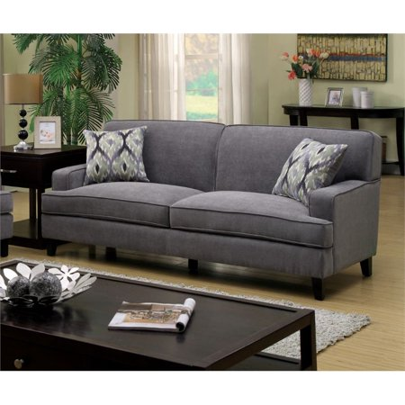 Stupendous Furniture Of America Elde Fabric Sofa In Stone Blue Gamerscity Chair Design For Home Gamerscityorg