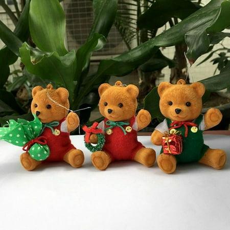 KABOER Christmas Teddy bear Ornaments Festival Party Xmas Tree Hanging Decor Gift ()