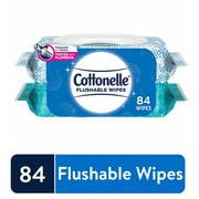 Cottonelle Flushable Wet Wipes - 2 Flip-Top Packs, 84 Total Wipes