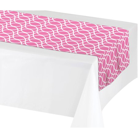 Creative Converting Candy Pink Table Runner, each - Candy Table Setup
