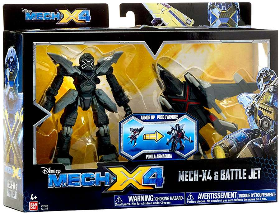 Bandai America Mech-X4 5 Inch Robot and Jet Dual Pack by Bandai America