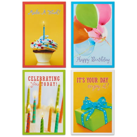 Buddha Greeting Cards - American Greetings 12 Count Happy Birthday Cards and Envelopes, Assorted Bundle