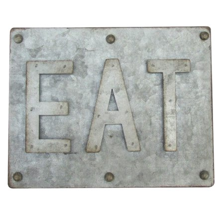 Rustic 3D Metal EAT Sign Farmhouse Kitchen Restaurant Diner Cafe Home Wall Decor - Metal Home Cafe Signs