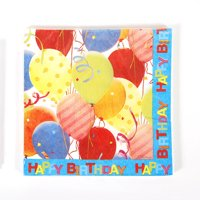 Luncheon Napkins - Birthday Pattern (16 pieces) Case Pack 36