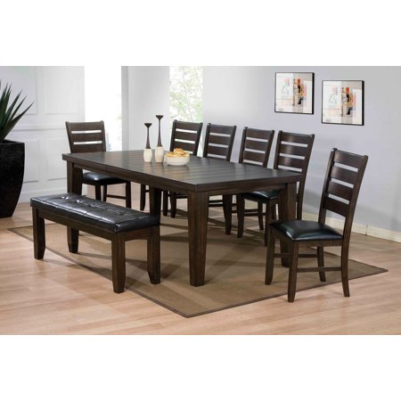 Dining Table, Espresso - Maple Veneer, MDF & Rubbe Espresso