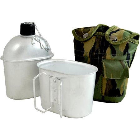 Fury 1 qt Aluminum Canteen with Cup, Camo