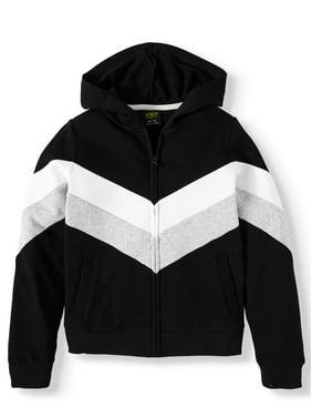 Athletic Works Colorblock Fleece Active Jacket (Little Girls, Big Girls & Plus)