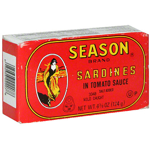Season Sardines In Tomato Sauce, 4.38 oz (Pack of 12)