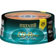 Maxell 623475/648425 80-Minute/700MB Pro CD-R, 25-Count Spindle