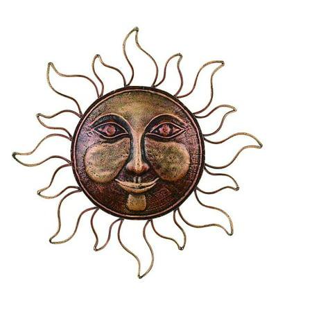 Classic Metal Sun Face Brass Wall Decor Art Sculpture