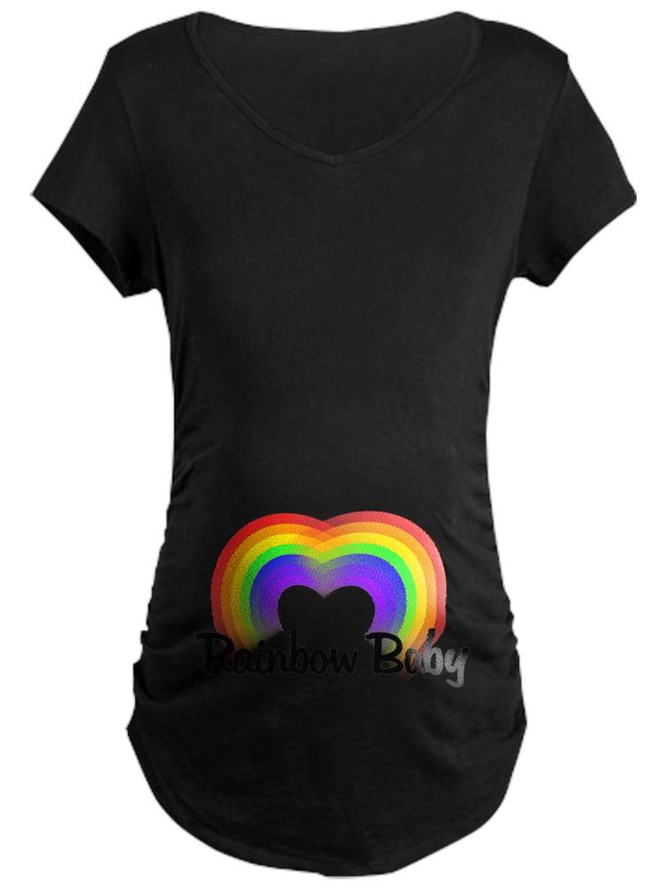 CafePress - Rainbow Baby Maternity T-Shirt - Maternity Dark T-Shirt