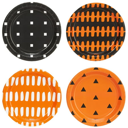 Halloween Party Assorted Appetizer Plates - Halloween Plates On Sale