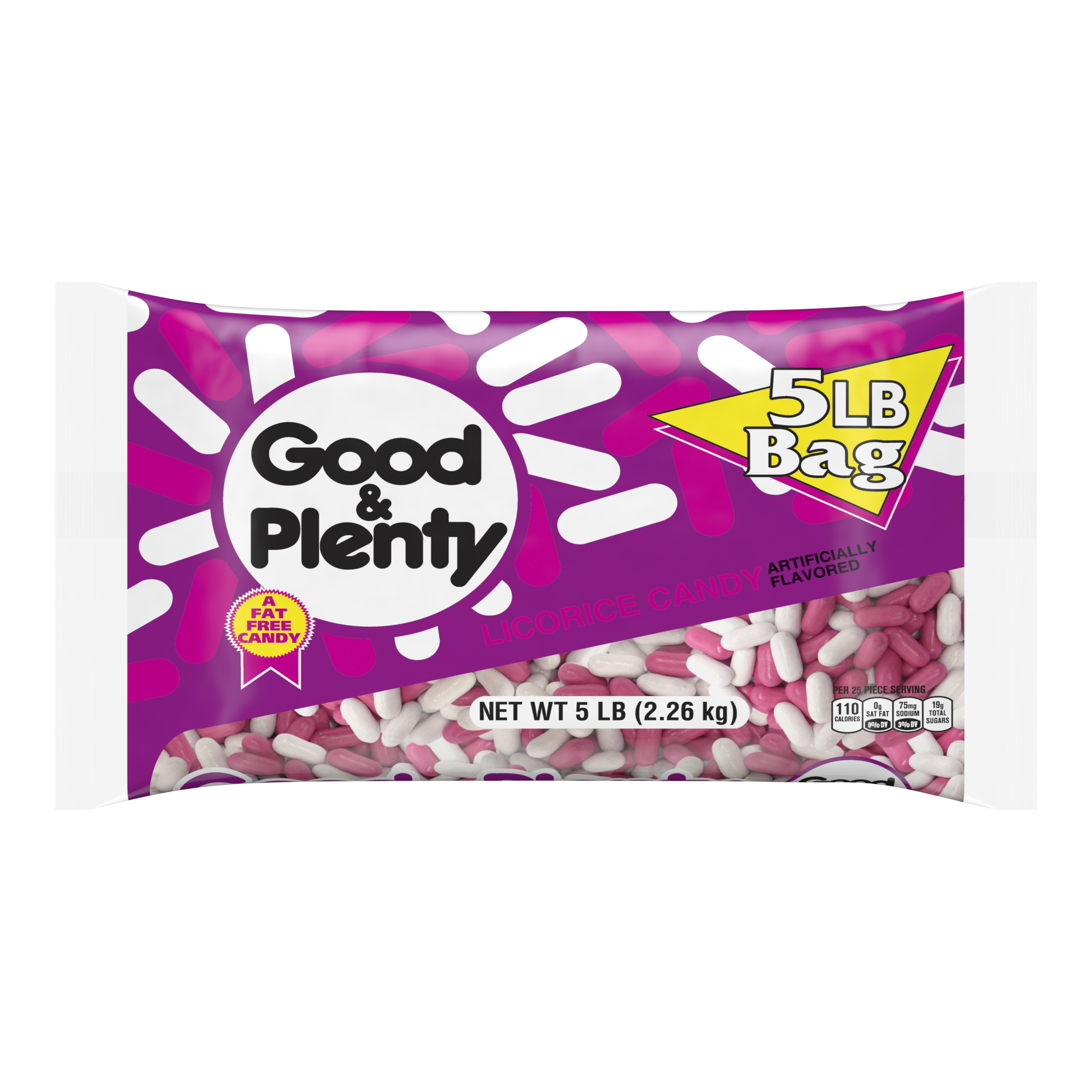 Good & Plenty, Licorice Candy, 80 Oz