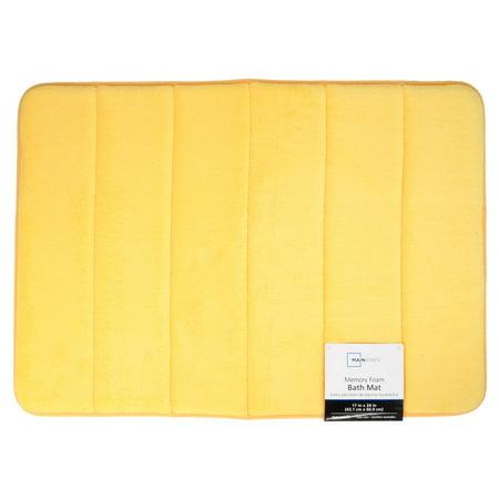 Mainstays Memory Foam Bath Mat 17 Quot X 24 Quot Sunray Yellow