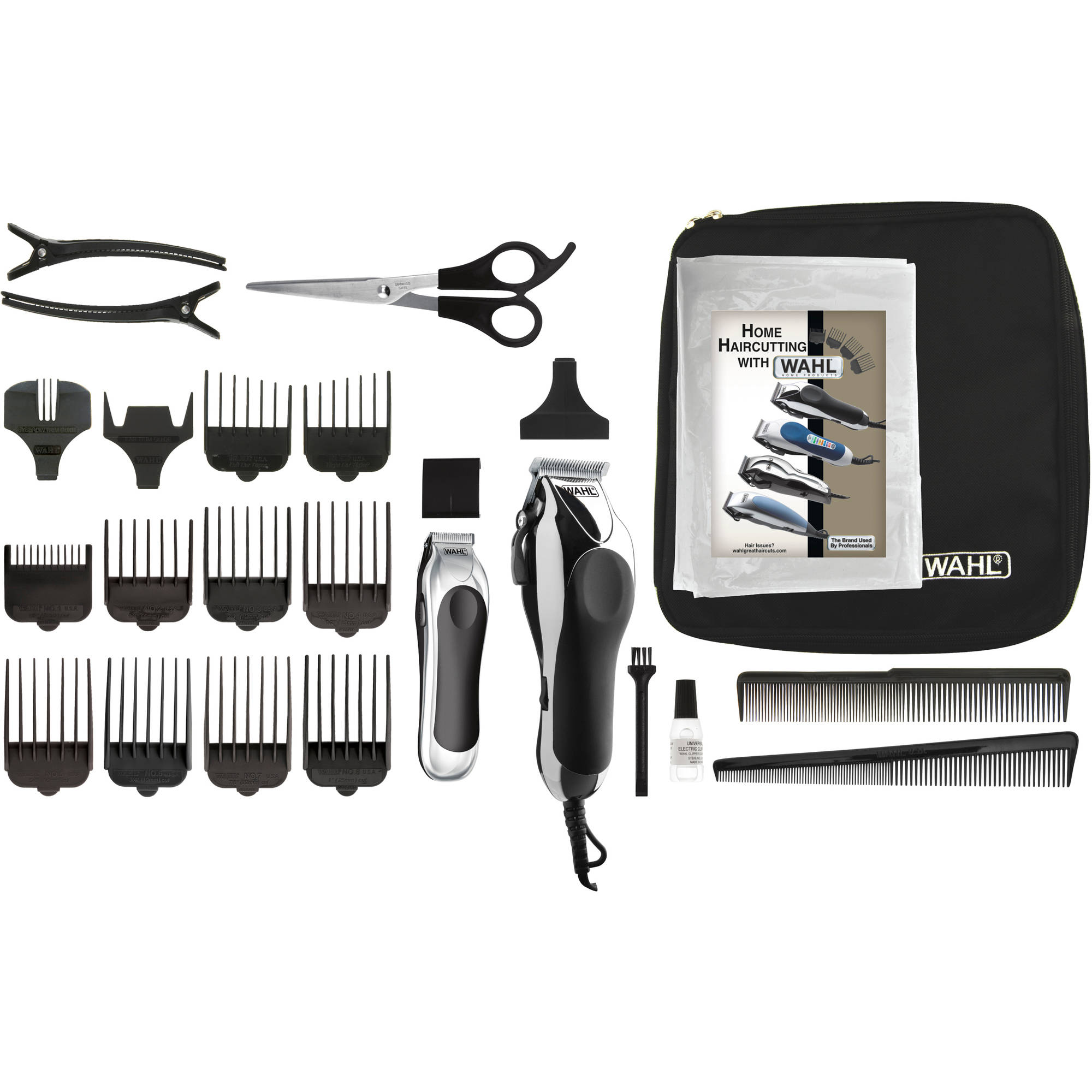 WAHL Deluxe Chrome Pro Home Haircutting Kit, Model 79524-5201