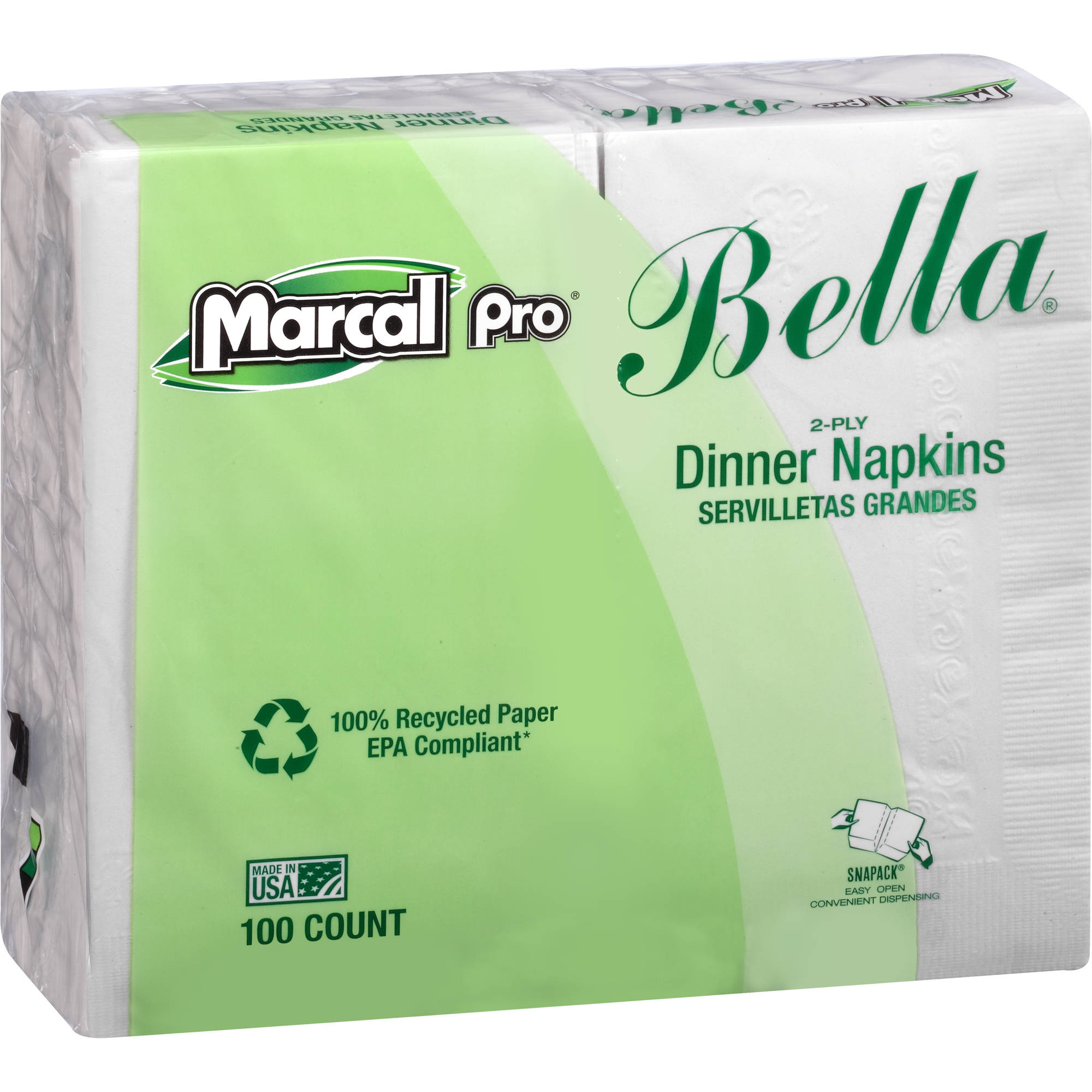 Marcal Eminence Bella 2-Ply Dinner Napkins, 30 Packs of 100, 3000 Total