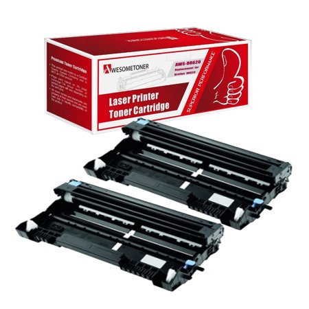 Awesometoner© Compatible 2 Pack DR620 Drum Unit For Brother DCP-8080, DCP-8085, HL-5340, HL-5370 High Yield 20,000