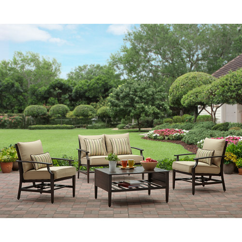 Better Homes and Gardens Shutter 4 Piece Patio Conversation Set