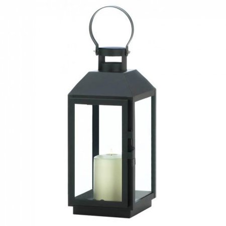 BESTChoiceForYou Candle Square Lantern Metal Glass Black Rustic Hanging - 13 inches ()