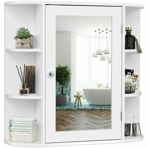 Costway Multipurpose Wall Surface, Elegant Bathroom Medicine Cabinets