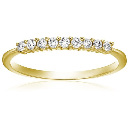 Vir Jewels 1/5 cttw Diamond Wedding Band in 14K White or Yellow Gold Prong Set