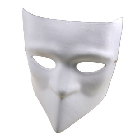 bauta masquerade mask white craft masks paper mache walmart com