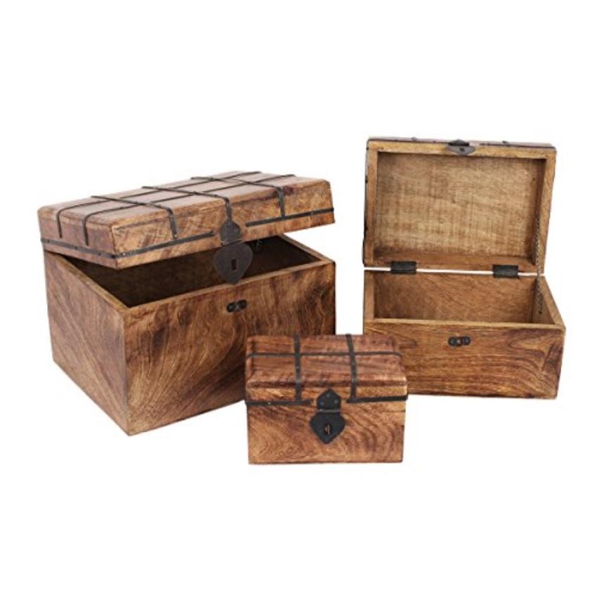 Storeindya Store Indya Vintage Handmade Wooden Jewelry Keepsake
