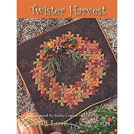 Twister Harvest Wreath Quilt Pattern by Needle Love