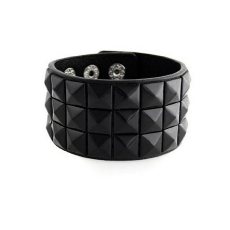 New Triple and Double Studded Punk Rock Wristband Bracelets