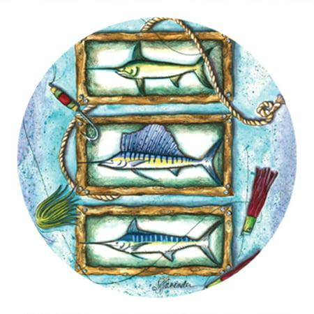 Thirstystone Drink Coasters Set, Sport Fish