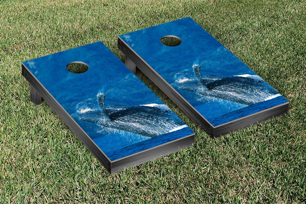 Humpback Whale Themed Cornhole Game Set by Victory Tailgate