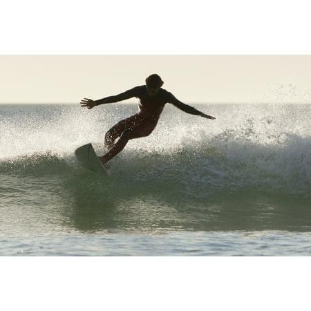 Wakeboarding Los Lances Beach Tarifa Spain Canvas Art - Ben Welsh Design Pics (19 x 12)