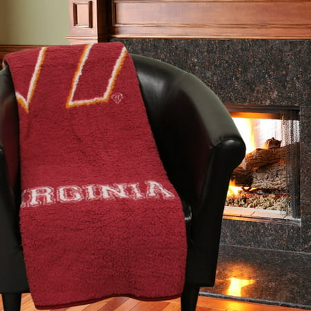"NCAA Virginia Tech Hokies ""Jersey"" 50"" x 60"" Sherpa Throw"