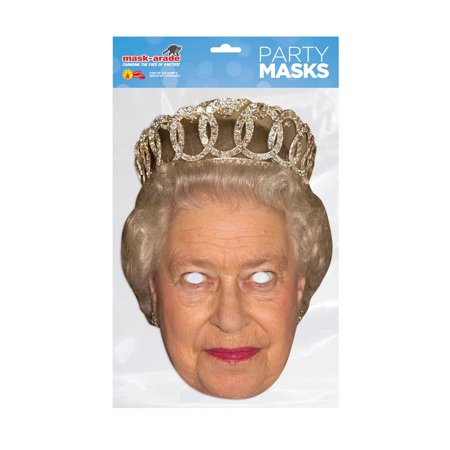 Queen Elizabeth Royal Facemask – Costume Accessory (Queen Costume Accessories)