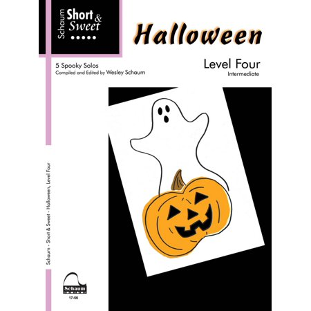 SCHAUM Halloween - Level 4 (Schaum Short & Sweet Series) Educational Piano Book (Level Inter) - Classical Piano Music For Halloween